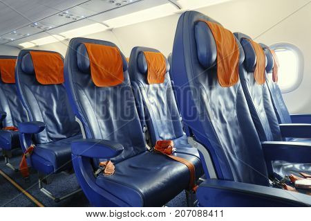 blue Chairs in the modern new plane