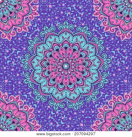 Islamic floral pattern in Victorian style. Ornamental for Card for cafe, shop, print, banner, wedding invitation, book cover, certificate. Save the date. India, Arabic Dubai turkish Islam
