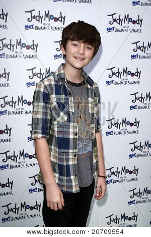 LOS ANGELES - JUN 4:  Greyson Chance arriving at 'Judy Moody And The NOT Bummer Summer' Premiere at ArcLight Hollywood on June 4, 2011 in Los Angeles, CA
