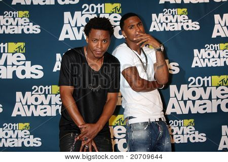 LOS ANGELES - JUN 5:  Lupe Fiasco; Trey Songz in the press room of the 2011 MTV Movie Awards at Gibson Ampitheatre on June 5, 2011 in Los Angeles, CA