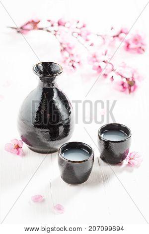 Tasty And Strong Sake In The Japanese Restaurant