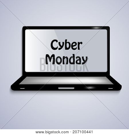 illustration of computer with Cyber Monday text on the occasion of Cyber Monday