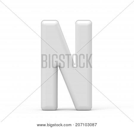 Pearl White Letter N