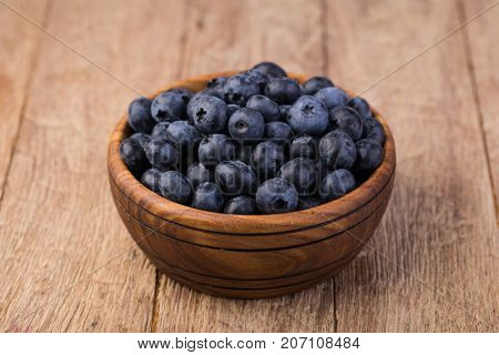 Blueberry on a wooden table