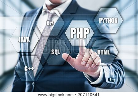 PHP Programming Language Web Development Coding Concept.