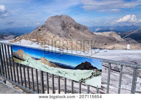 Gjaidstein Mountain With Adventure Trail Near Dachstein Glacier, Austria