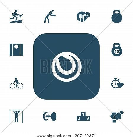 Set Of 13 Editable Lifestyle Icons. Includes Symbols Such As Bicycle Rider, Balance, Strength And More