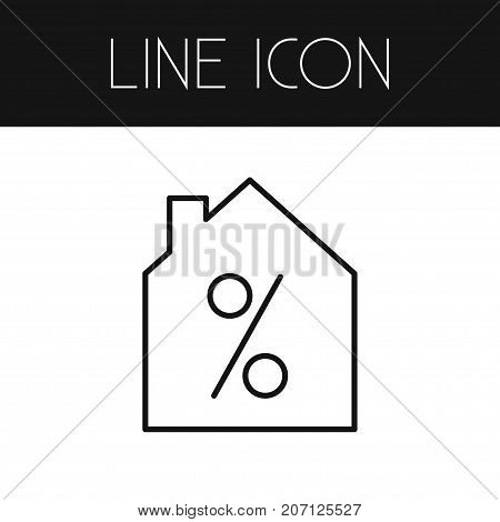 Special Offer Vector Element Can Be Used For Home, Sale, Percentage Design Concept.  Isolated Home On Sale Outline.