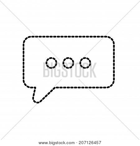 dotted shape chat bubble text message icon vector illustration