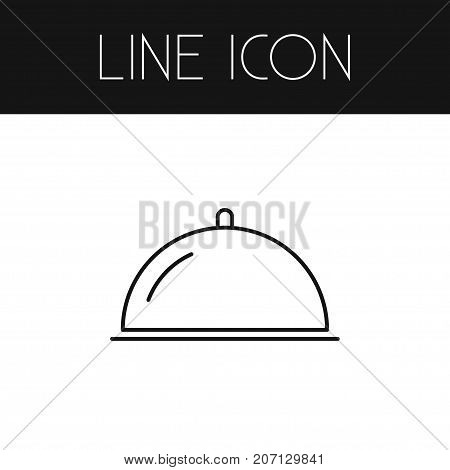 Serving Vector Element Can Be Used For Tray, Serving, Meal Design Concept.  Isolated Tray Outline.
