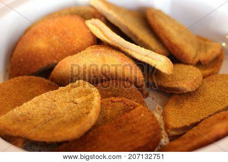 Chicken Schnitzels In Breadcrumbs. Hot And Fresh