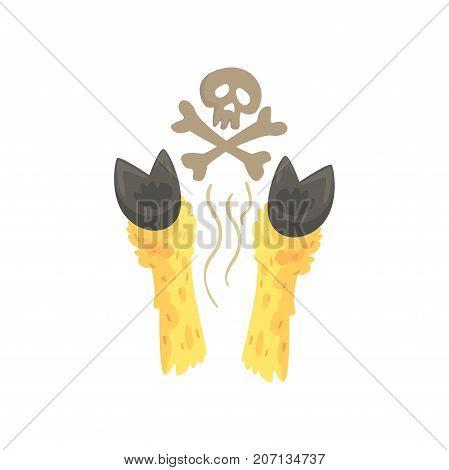 Hoofs of dead llama cartoon vector Illustration on a white background