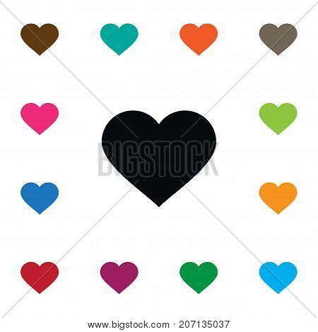 Amour Vector Element Can Be Used For Amour, Heart, Love Design Concept.  Isolated Love Icon.