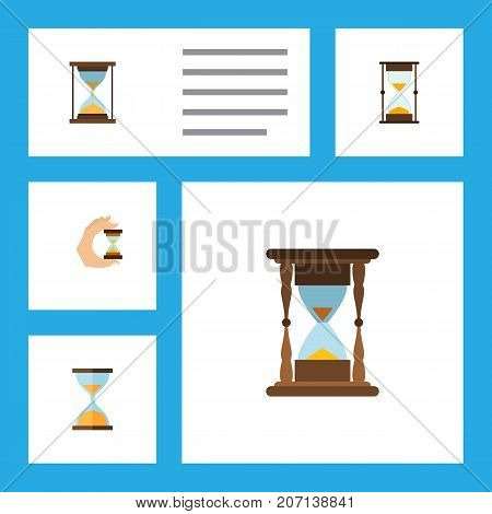 Flat Icon Timer Set Of Measurement, Minute Measuring, Clock And Other Vector Objects
