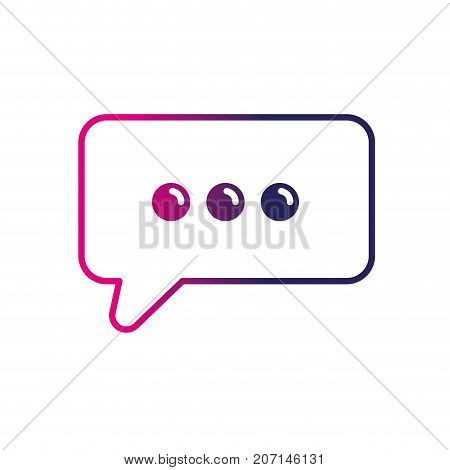 line chat bubble text message icon vector illustration