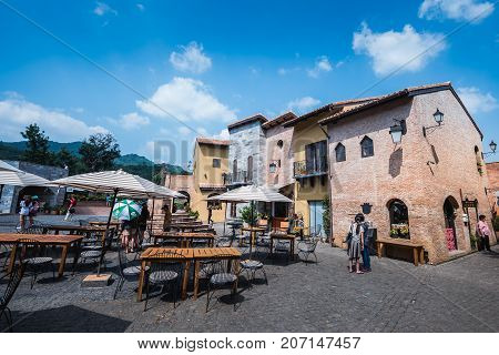 KORAT THAILAND : 24 October 2015 : Primo Piazza the Italian style small town at Korat province in Thailand