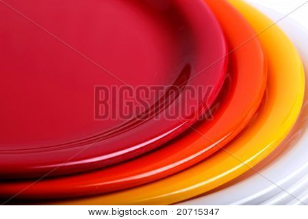 Colorful Plates Stacked