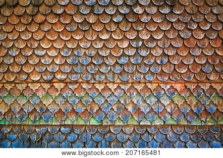 Abstract Background of an Old Wooden Roof
