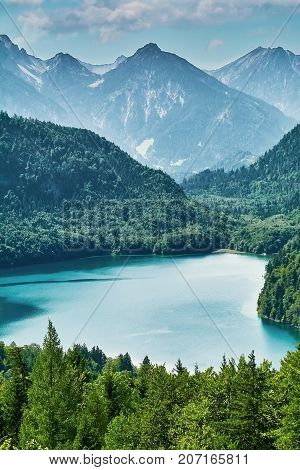 Alpensee Lake In Alps