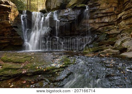 Mountain Waterfall in Autumn - West Virginia