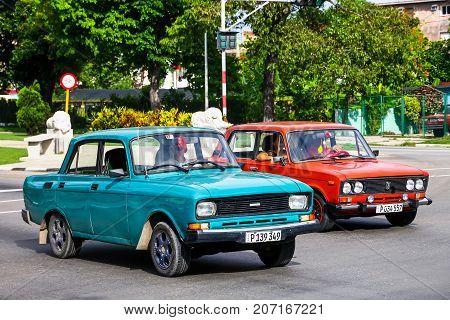 Moskvitch 2140Sl And Lada 2106