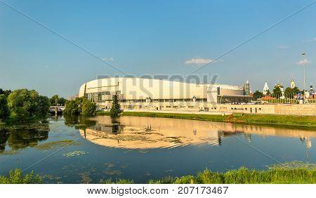 The Kolomna Speed Skating Center and the Kolomenka River - Russia, Moscow Oblast