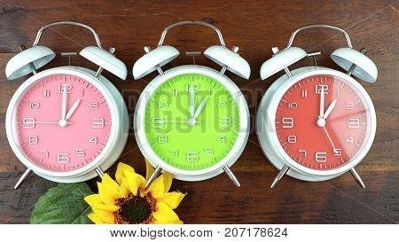 Autumn Fall Daylight Saving Time Clocks