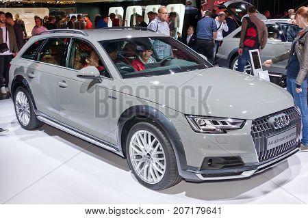 Frankfurt-September 20: Audi A4 Allroad Quattro at the Frankfurt International Motor Show on September 20 2017 in Frankfurt