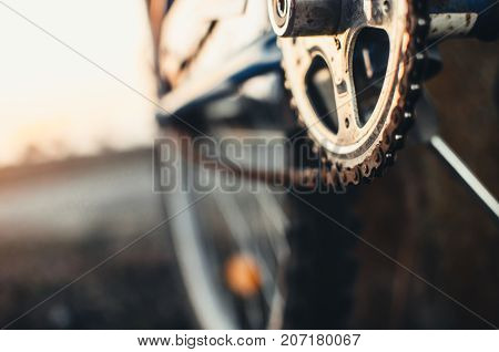 The Front Sprocket On The Bike Large