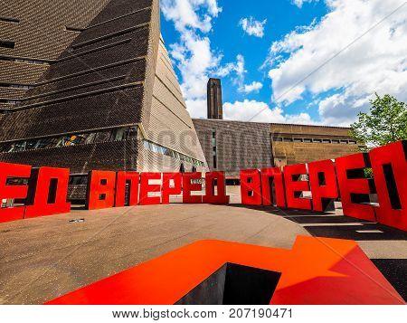 Forward At Tate Modern Tavatnik Building In London, Hdr