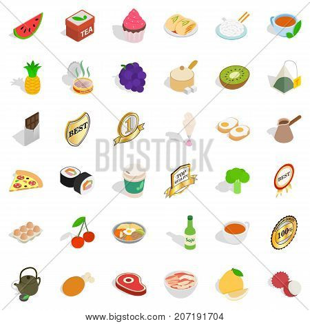 Good kitchen icons set. Isometric style of 36 good kitchen vector icons for web isolated on white background