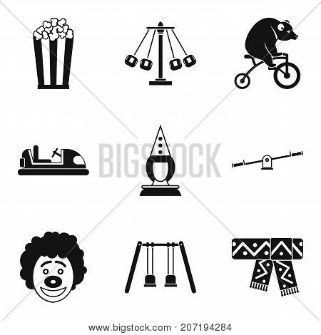 Children cheerfulness icons set. Simple set of 9 children cheerfulness vector icons for web isolated on white background