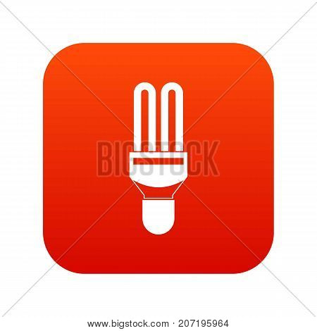 Fluorescence lamp icon digital red for any design isolated on white vector illustration