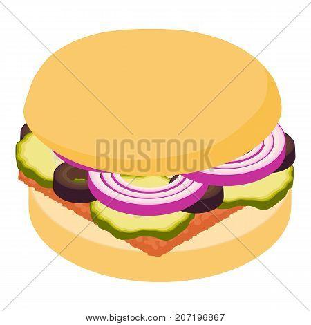 Hamburger icon. Isometric illustration of hamburger icon for web