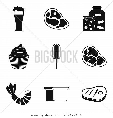 Break a diet icons set. Simple set of 9 break a diet vector icons for web isolated on white background