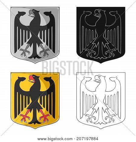 Emblem, single icon in cartoon style.Emblem, vector symbol stock illustration .
