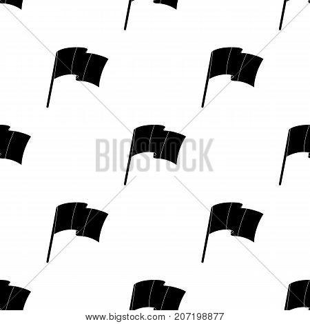 The Belgian flag. Belgium single icon in black style vector symbol stock web illustration.