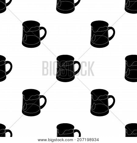 A glass of foamy Belgian beer. Belgium single icon in black style vector symbol stock web illustration.