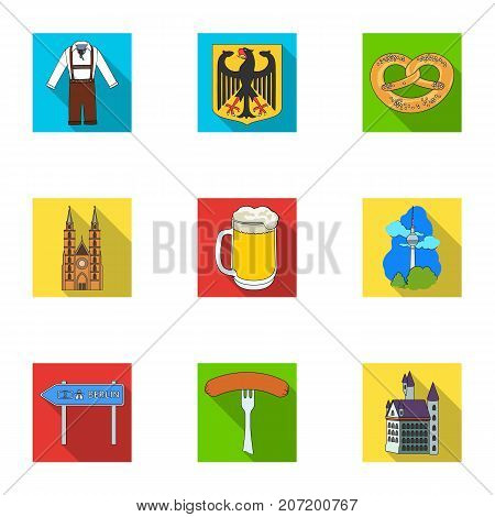 Cooking, textiles, tourism and other  icon in flat style.Residential, national, attributes, icons in set collection