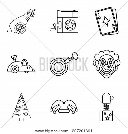 Teaching a child icons set. Outline set of 9 teaching a child vector icons for web isolated on white background