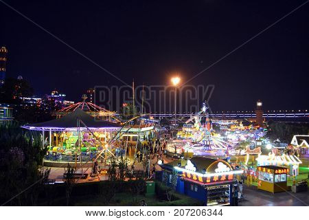 The Theme Park (and Carousels!) In Dalian At Night. Pic Was Taken In September 2017