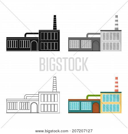 Factory, single icon in cartoon style.Factory, vector symbol stock illustration .