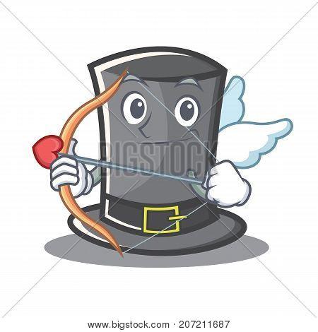 Cupid Thanksgiving hat character cartoon vector illustration