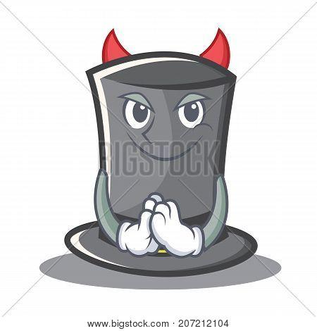 Devil Thanksgiving hat character cartoon vector illustration