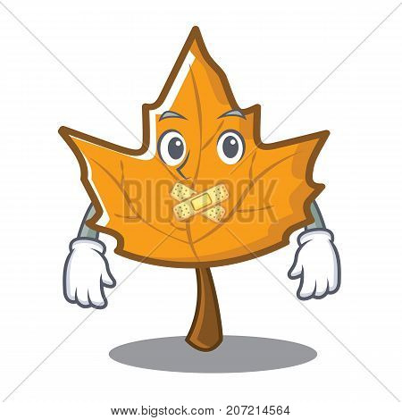 Silent maple character cartoon style vector illustration