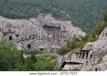 Far-away Look On Longmen Grottoes. Pic Was Taken In September 2017