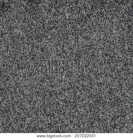 Black And White Wool Fabric For Background. Heather Backdrop Pattern Image
