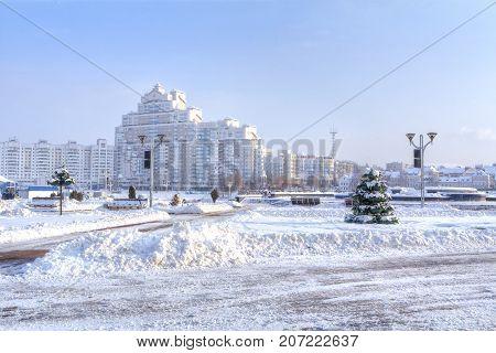 Park Starostinskaya Sloboda and residential areas of the city. Minsk