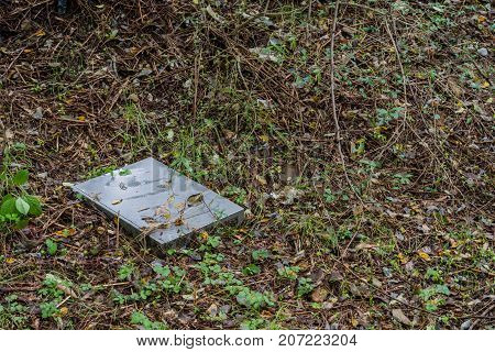 Old Server Laying On Ground