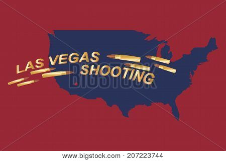 Las Vegas Shooting. Concept Of Terrorism And The Memory Of The Dead. Bullets In The Background Of Th